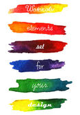 Watercolor gradient stripes  in vibrant colors. — Stock Vector