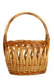 Wicker Easter Basket — Stock Photo