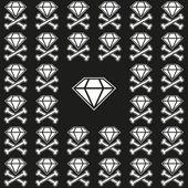 Dark emo pattern — Stock Vector