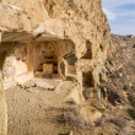 David Gareja, a rock-hewn Georgian Orthodox monastery complex — Stock Photo #44348013