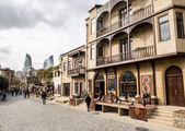 BAKU, AZERBAIJAN - NOVEMBER 22: Icheri Sheher (Old Town) of Baku, Azerbaijan, on November 22, 2013. Icheri Sheher is a UNESCO World Heritage Site since 2000 — Stock Photo