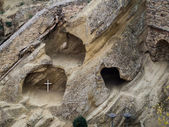David Gareja, a rock-hewn Georgian Orthodox monastery complex — Stockfoto