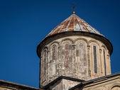 GELATI, GEORGIA - OCTOBER 31: Gelati, a monastic complex close to Kutaisi, Imereti region, Georgia on October 31, 2013. Gelati is a UNESCO heritage site since 1994 — Stock Photo