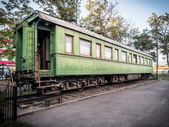 GORI, GEORGIA - OCTOBER 31, 2013: Railroad car of Stalin in front of the Museum of Stalin in his hometown Gori, Georgia, Caucasus — Stock Photo