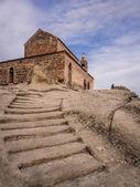 Uplistsikhe, géorgie - le 28 septembre : la 9ème - 10ème siècle basilique à trois nefs dans uplistsikhe cave complexe en géorgie le 28 septembre 2013 — Photo
