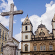 SALVADOR, BRAZIL - AUGUST 01: Sao Francisco church in the historical center of Salvador on August 01, 2012. Soa Francisco church is one of the most recognizable buildings of Bahia Region — Stock Photo