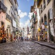 SALVADOR, BRAZIL - JULY 30: Maciel de Baixo street in the historical center of Salvador on July 30, 2012. Maciel de Baixo street is one of the most know streets of the colonial part of Salvador — Stock Photo #44350173
