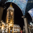 BATUMI, GEORGIA - JULY 17: Piazza, the famous square in the old town of Batumi on July 17, 2013 by night. Piazza is known for its cafes and restaurants — Stock Photo #44350547