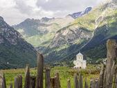 St. George church in Adishi village in Upper Svaneti, Georgia, Caucasus — Stock Photo