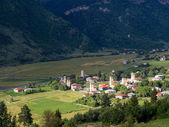ADISHI, GEORGIA - JULY 26: Adishi village in Upper Svaneti, Georgia, Caucasus, on July 26, 2013. The region is known for its medieval defensive towers — Stock Photo