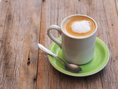 Cup of coffee with milk — Foto de Stock