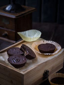 Homemade peanut butter cups — Stock Photo