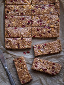 Homemade granola protein bars — Stock Photo