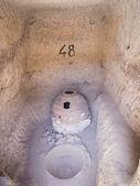 Wine container in Vardzia cave city-monastery — Stock Photo