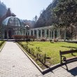 The hot water spring in the Mineral Water Park in Borjomi, Georgia — Stock Photo