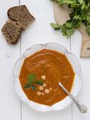 鹰嘴豆番茄汤 — 图库照片