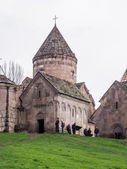 GOSH, ARMENIA - APRIL 13: Chapel of the Goshavank Monastery on April 13, 2013. Goshavank complex was built in 12-13th century, remains in good condition which makes it a popular tourist destination — Stockfoto