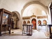 Inside David Gareja - a rock-hewn Georgian Orthodox monastery complex — Stock Photo