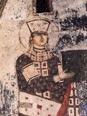 VARDZIA, GEORGIA - MARCH 23, 2014: Queen Tamar on frescos in the built in the 12th century Church of Dormition in Vardzia cave city-monastery in Georgia, Caucasus — Stock Photo
