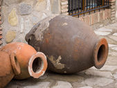 Qvevri, large earthenware vessel — Stock Photo