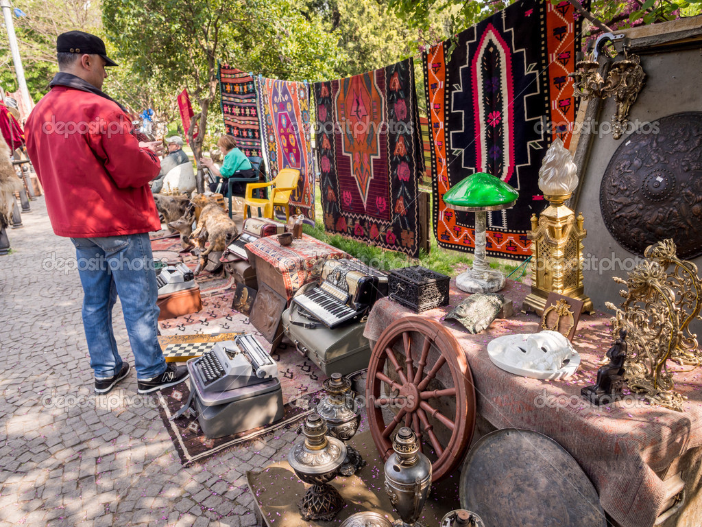 Georgia Tbilisi Flea Market Stock Photos Georgia Tbilisi: APRIL 27: Dry Bridge Market Tbilisi On