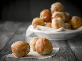 Small homemade doughnuts — Stock Photo