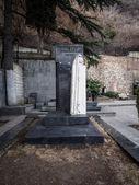 Cmentarz w pobliżu kościoła st. david — Zdjęcie stockowe