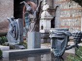 Graveyard near  St. David church — Stock Photo