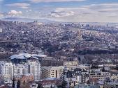 Tbilisi seen from the Mtatsminda Pantheon — Stock Photo