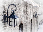 Old style street lamps — Stock Photo