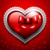 сердца на фоне ажурной — Cтоковый вектор
