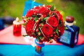 Buquê de noiva vermelho — Foto Stock