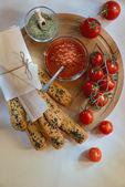 Sesame bread sticks — Stock Photo