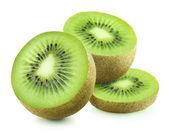 Three pieces of kiwi — Stock Photo