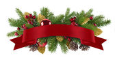 Festive garland christmas element — Stock Photo