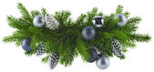Christmas silver decoration element — Stock fotografie