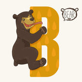 Letter B bear — Stock Vector