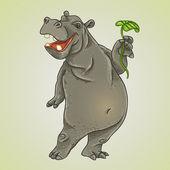 Hippo — Stock Vector