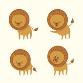 Cheerful lion — Stock Vector