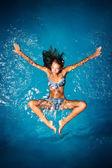 Swimming girl. — Stock Photo
