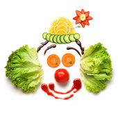 Happy meal for opponents of fast-food. — Stock Photo