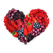 With love to berries. — Stock Photo
