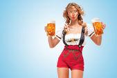 Festive beers. — Stock Photo
