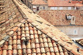 Tiled rooftops of old town. — Stock Photo