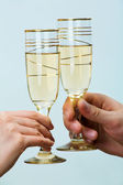 Two tumblers with champagne — Stock Photo