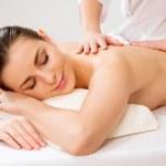Woman having massage on back — Stock Photo #44733651