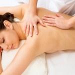 Woman having massage on back — Stock Photo #44733663