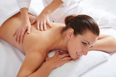 Woman in spa environment — Stock Photo