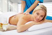 Woman in spa environment — Stockfoto