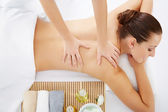 Woman in spa salon — Stock Photo